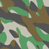 Vector seamless four-color camouflage pattern Royalty Free Stock Image