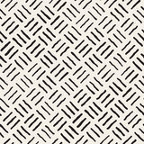 Vector Seamless Freehand Geometric Rough Lines Pattern Stock Image