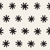 Vector seamless freehand pattern. Abstract background with floral brush strokes. Hand drawn texture Royalty Free Stock Photo