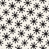 Vector seamless freehand pattern. Abstract background with floral brush strokes. Hand drawn texture Royalty Free Stock Photography