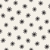 Vector seamless freehand pattern. Abstract background with floral brush strokes. Hand drawn texture Stock Image