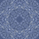 Vector seamless frosty pattern. Abstract ornate background. Vector seamless ethnic print pattern. Abstract ornate background frosty pattern. Suitable for various Royalty Free Illustration