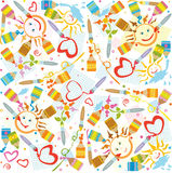 Vector seamless, fun pattern for your design Stock Image