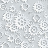 Vector Seamless Gears Pattern Stock Images