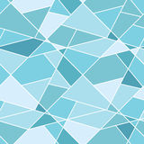 Vector seamless geometric blue polygonal pattern -. Abstract background for design Stock Photos