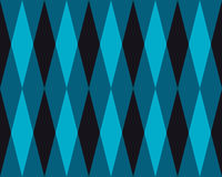 Vector Seamless Geometric Blue  Rhombus Triangle Tiling Pattern Abstract Background. Stock Photography