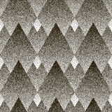 Vector seamless geometric dotted pattern. Halfton. Dotted vector seamless geometric pattern a white background. Halftone effect Royalty Free Stock Images