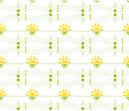 Vector Seamless geometric floral pattern Stock Photos