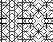 Vector seamless geometric pattern. Seamless geometric pattern. Vector abstract classical background in black and white color Royalty Free Stock Images