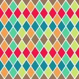 Vector seamless geometric pattern with colorful rombs Stock Photography