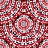 Seamless folk Romanian tile. Vector seamless geometric pattern design with Romanian folk motif Royalty Free Stock Photo
