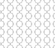 Vector seamless geometric pattern with editable weight of stroke Stock Photography
