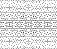 Vector seamless geometric pattern with editable weight of stroke Stock Photos