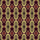 Vector Seamless Geometric Pattern in ethnic vintage style Asian ikat. Template for creating wallpapers, textile, backdrops. Royalty Free Stock Images