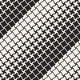 Vector Seamless Geometric Pattern. Halftone gradient color transition. Woven Lines Simple Lattice Stock Images