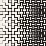 Vector Seamless Geometric Pattern. Halftone gradient color transition. Woven Lines Simple Lattice Royalty Free Stock Images