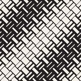 Vector Seamless Geometric Pattern. Halftone gradient color transition. Woven Lines Simple Lattice Royalty Free Stock Photo