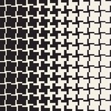 Vector Seamless Geometric Pattern. Halftone gradient color transition. Woven Lines Simple Lattice Stock Image