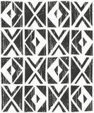 Vector seamless geometric pattern. Hand drawn illustration. Stock Photography
