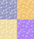 vector Seamless geometric pattern of hexagons Stock Image