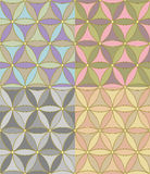 vector Seamless geometric pattern of hexagons Royalty Free Stock Photo