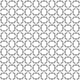 Vector seamless geometric pattern. Line texture. Black-and-white background. Monochrome design. royalty free illustration