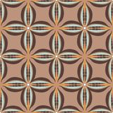 Vector seamless geometric pattern in retro style. Vector seamless geometric pattern with hand-drawn elemenets in retro style. Vintage beige geomteric backgound Stock Image