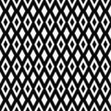 Vector seamless geometric pattern. Rhombuses texture. Black-and-white background. Monochrome diamond-shaped design. vector illustration