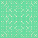 Vector Seamless Geometric Pattern. Simple contemporary green flat pattern with lines and dots vector illustration