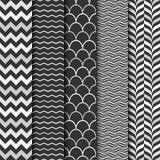 Vector seamless geometric patterns. Stock Photos