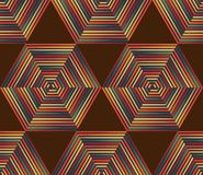 Vector Seamless Geometric Retro Pattern Royalty Free Stock Photos