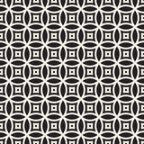 Vector Seamless Geometric Rounded Lines Pattern. Abstract Geometric Background Design Stock Image