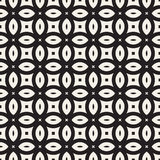 Vector Seamless Geometric Rounded Lines Pattern. Abstract Geometric Background Design. Vector Seamless Black And White Geometric Rounded Lines Pattern. Abstract stock illustration