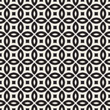 Vector Seamless Geometric Rounded Lines Pattern. Abstract Geometric Background Design Stock Images