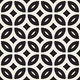 Vector Seamless Geometric Rounded Lines Pattern. Abstract Geometric Background Design. Vector Seamless Black And White Geometric Rounded Lines Pattern. Abstract vector illustration