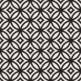 Vector Seamless Geometric Rounded Lines Pattern. Abstract Geometric Background Design Royalty Free Stock Photos