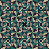 Vector Seamless Geometric Rounded Triangle Shapes Square Green Grey Pattern Dark Background Stock Photos