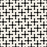 Vector Seamless Geometric Simple Rounded Plus Cross Shape Pattern Royalty Free Stock Images