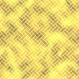 Vector seamless geometric textured golden pattern. Background Stock Photos