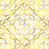 Vector seamless geometric textured golden pattern. Background Stock Images