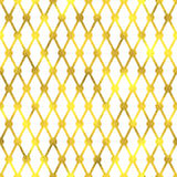 Vector seamless geometric textured golden pattern. Background Royalty Free Stock Image