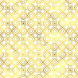 Vector seamless geometric textured golden pattern. Background Stock Photography