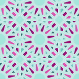 Vector Seamless Geometric Tiling Pattern in Teal and Pink Vector Illustration