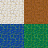Vector seamless geometrical patterns Stock Image