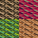Vector seamless geometrical patterns Royalty Free Stock Photography