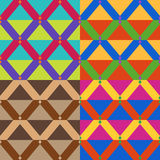 Vector seamless geometrical patterns Stock Photos