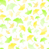 Vector seamless ginkgo leaves pattern Royalty Free Stock Images