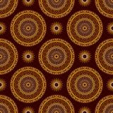 Vector Seamless Gold Floral Mandala Pattern Stock Photo