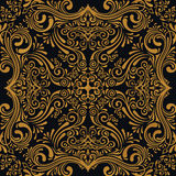 Vector seamless gold pattern with art ornament. Vintage elements for design in Victorian style Stock Illustration