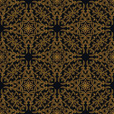Vector seamless gold pattern with art ornament. Vintage elements for design in Victorian style Royalty Free Stock Images